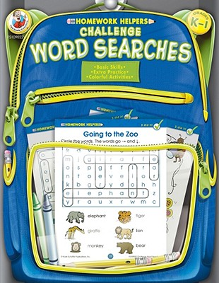 Homework Helper Challenge Word Searches, Grades K to 1 By Frank Schaffer Publications (COR)